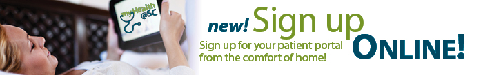 Sign upfor your patient portal from the comfort of home! Sign up today!